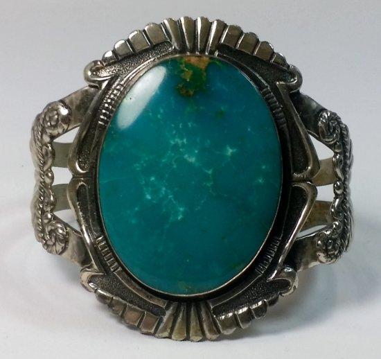 Pre-War NAVAJO Turquoise Silver Bracelet (65g)
