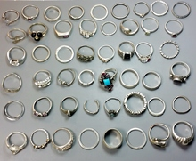 50x Sterling Silver Rings