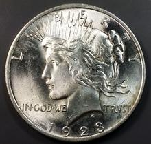 1923p Peace Silver Dollar
