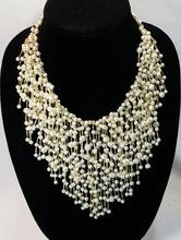 VINTAGE 14k (585) HUGE Pearl Stands Necklace