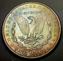 1886-p Morgan Silver Dollar -TONED