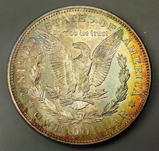 1921-p Morgan Dollar -TONED Rev