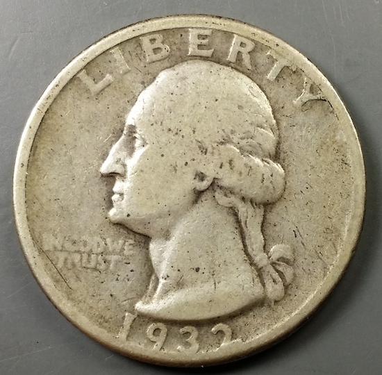 1932-D Washington Quarter -KEY DATE