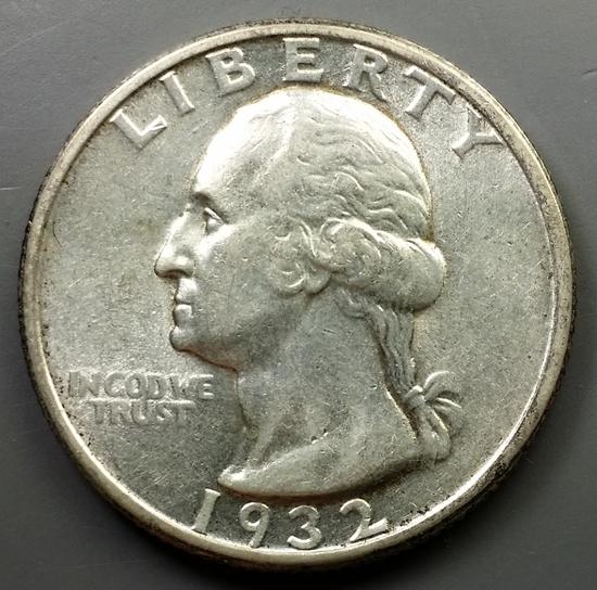 1932-P Washington Quarter -SEMI-KEY DATE