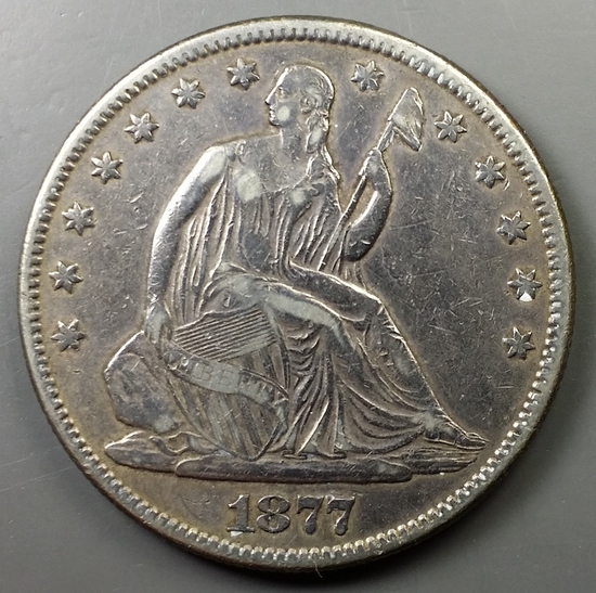 1877-P Seated Liberty HALF-DOLLAR