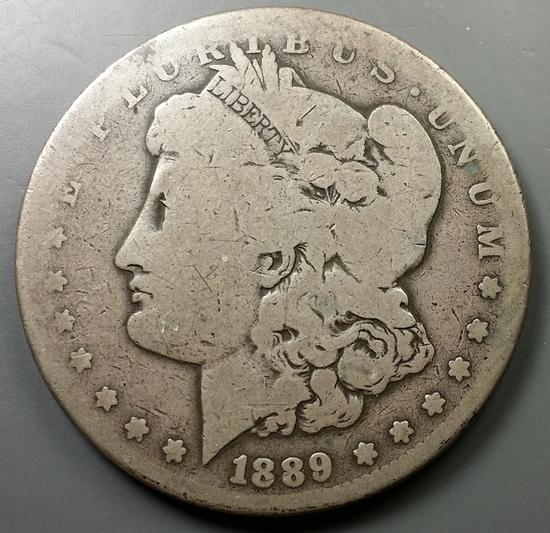 1889-CC Morgan Dollar -KEY DATE Carson City