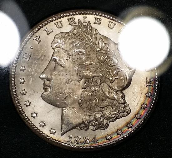 1884-CC Morgan Dollar GSA -TEXTILE TONER