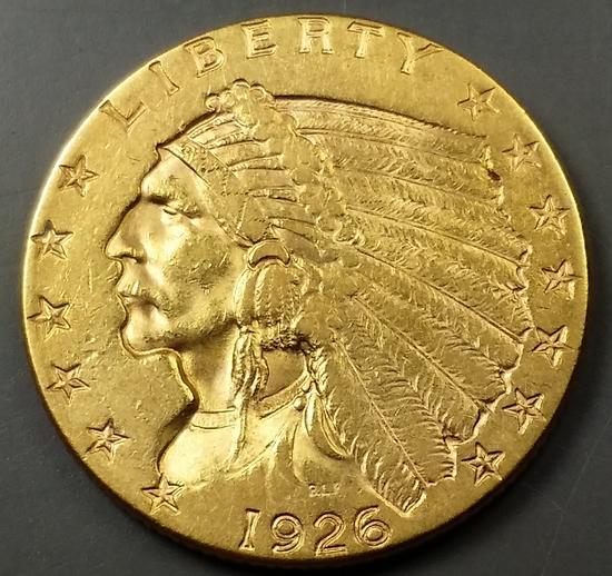 1926 $2.50 Indian GOLD Quarter Eagle