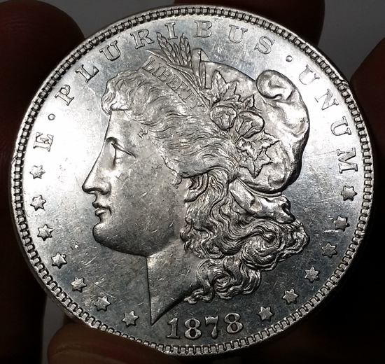 1878-P 8TF Morgan Silver Dollar -KEY VARIETY