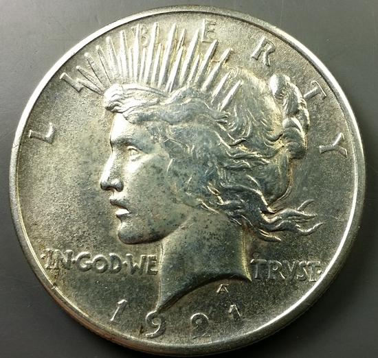 1921 Peace Silver Dollar -KEY DATE