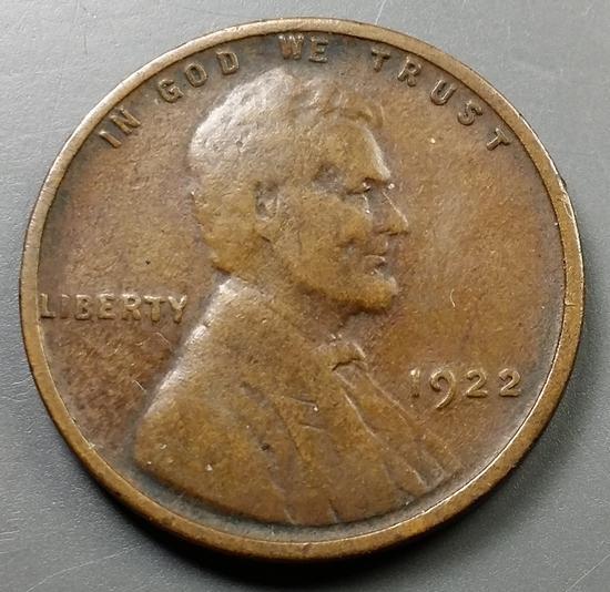1922 No-D / Weak-D LINCON CENT