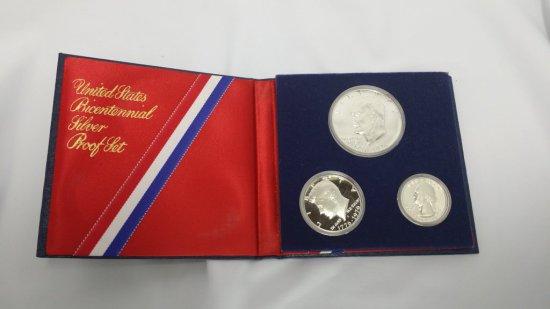 3pc. Bicentennial Silver PROOF Coin Set