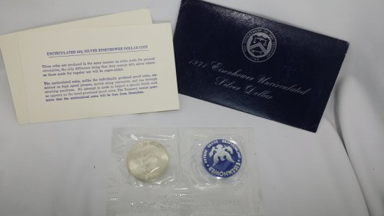 1971 Eisenhower Unc. Silver Dollar SEALED in mint pkg