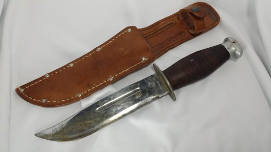 WWII Fighting Knife w/ Possible Old Blood Still on Blade