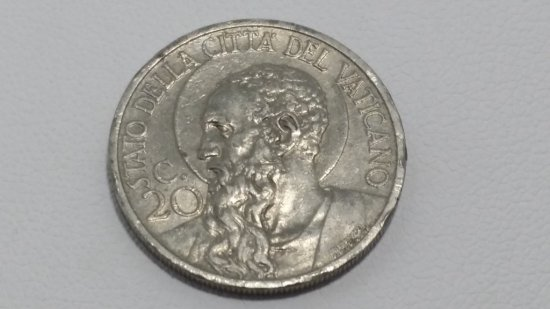 Vatican Coin 20 Centesimi (Pio XI, Jubilee 1933)