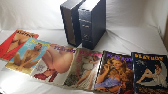 1973 PLAYBOY ---ALL 12 ISSUES w/ COLLECTORS BOX!