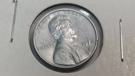 *1974-d Lincoln Penny One Cent *ERROR COIN* (No Copper)