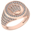 Certified 0.57 Ctw Diamond Ladies Fashion Ring 14k Rose Gold MADE IN USA (VS/SI1)