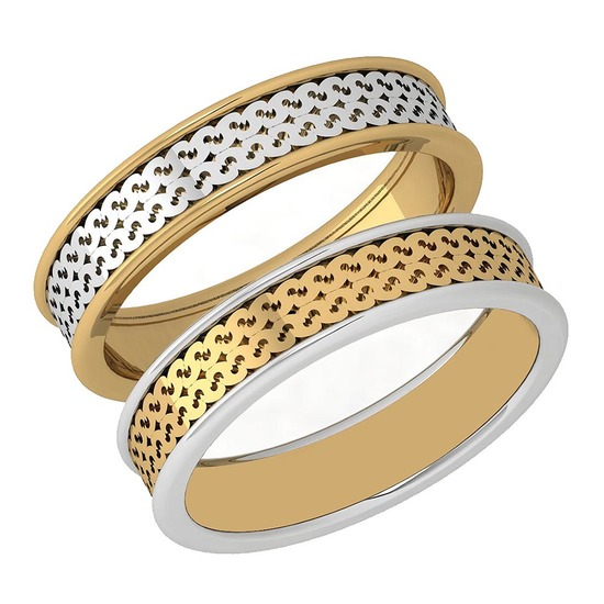 Gold Bands 18K White And Yellow Gold MADE IN ITALY