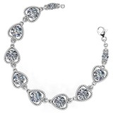 Certified 3.80 Ctw Diamond VS/SI1 Bracelet 14K White Gold