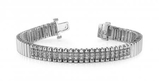 14K WHITE GOLD .65 CTW G-H I1/I2 DOUBLE CENTER STRAND DIAMOND BRACELET