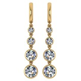 Certified 1.73 Ctw Diamond VS/SI1 Earrings For 14K Yellow Gold