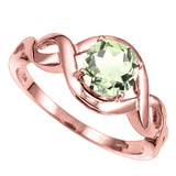 1.22 CT GREEN AMETHYST 10KT SOLID RED GOLD RING