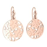 Gold Wire Hook Earrings 18K Rose Gold Made In Italy