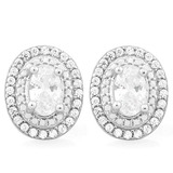 PRICELESS 2 3/5 CTW (62 PCS) FLAWLESS CREATED DIAMOND .925 STERLING SILVER EARRINGS