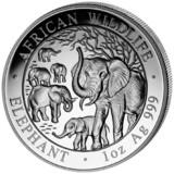 Somalia 1 oz Silver Elephant 2008