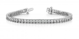14K WHITE GOLD 2.50 CTW G-H I1/I2 CLASSIC DIAMOND BOX TENNIS BRACELET