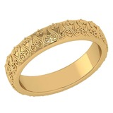 Stunning Filigree Engagement Band 18K Yellow Gold MADE IN ITALY