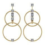Certified 0.66 Ctw Diamond VS/SI1 Earrings 14K Yellow Gold