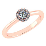 Certified 0.52 Ctw Diamond 14k Rose Gold Ring (VS/SI1)