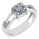 Certified 1.18 Ctw Diamond Wedding/Engagement Style 14K White Gold Halo Ring (SI2/I1)