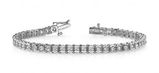14K WHITE GOLD 1 CTW G-H I1/I2 ROUND PRONG SET TENNIS BRACELET