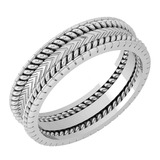 Stunning Filigree Engagement Band 18K White Gold MADE IN ITALY