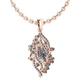 Certified 0.90 Ctw Diamond VS/SI1 Necklace 14K Rose Gold