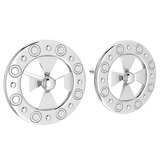 Gold Stud Earrings 18k White Gold MADE IN ITALY