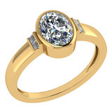 Certified 1.28 Ctw Diamond 14k Yellow Gold Ring (VS/SI1)