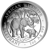 Somalia 1 oz Silver Elephant 2007