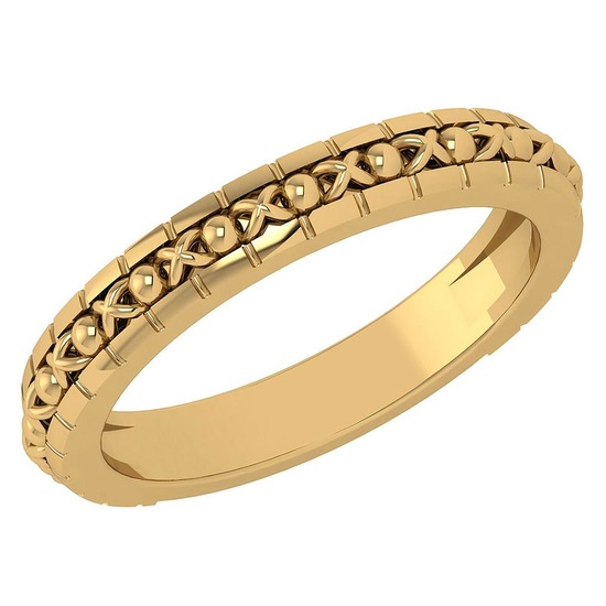 Gold MADE IN ITALY filigree Bands For beautiful ladies 14k Yellow Gold MADE IN ITALY