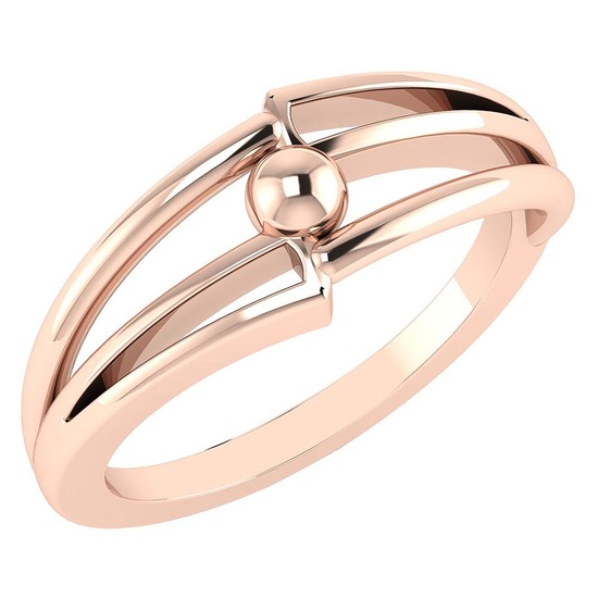 Gold MADE IN ITALY Styles Ring For beautiful ladies 14k Rose Gold MADE IN ITALY