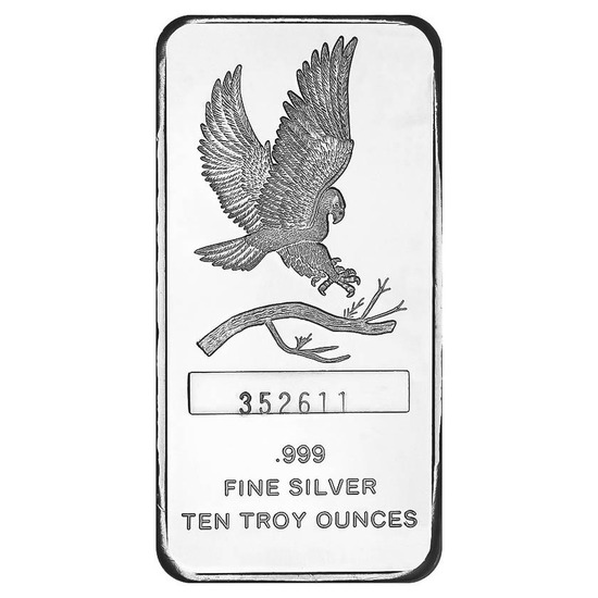 SilverTowne 10 oz Silver Bar - Eagle Design