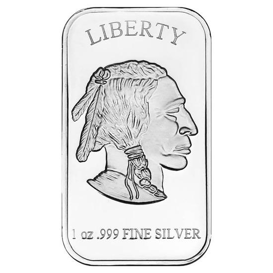 SilverTowne 1 oz Silver Bar - Buffalo Design