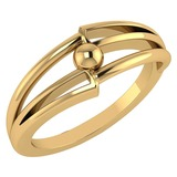 Gold MADE IN ITALY Styles Ring For beautiful ladies 14k Yellow Gold MADE IN ITALY