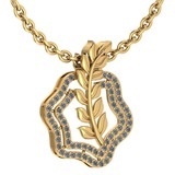 Certified 0.52 Ctw Diamond VS/SI1 Leaf Necklace 18k Yellow Gold Made In USA