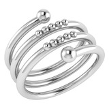 Gold MADE IN ITALY Ring MADE IN ITALYBands For beautiful ladies 14k White Gold MADE IN ITALY