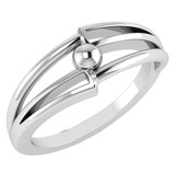 Gold MADE IN ITALY Styles Ring For beautiful ladies 14k White Gold MADE IN ITALY