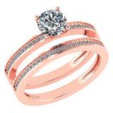 Certified 0.73 Ctw Diamond 14k Rose Gold Ring (VS/SI1)